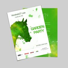 Proposition d'un visuel pour la Garden Party organisée par L'Hippodrome de Toulouse - Réalisation dans le cadre de mon stage à l'agence NOVO