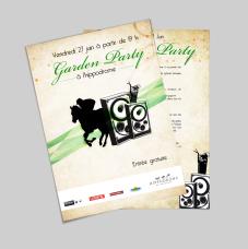 ProposiCréation retenu pour la Garden Party organisée par L'Hippodrome de Toulouse - Réalisation dans le cadre de mon stage à l'agence NOVO