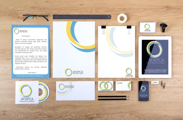 Création de l'identité visuelle de l'entreprise, dans le cadre du projet de refonte du Logotype de L'Afapca - exercice dans le cadre de mon BTS