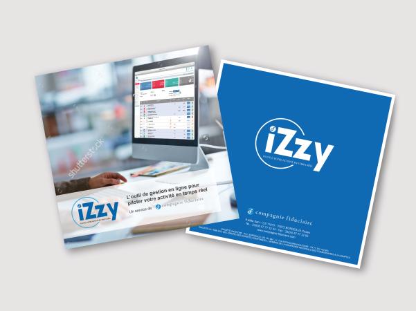 Création d'une plaquette pouRefonCréation d'une plaquette informative sur le service iZzy proposé par la Compagnie Fiduciaire - Réalisation dans le cadre de mon expérience dans la Start-up Ca Compte Pour Moi