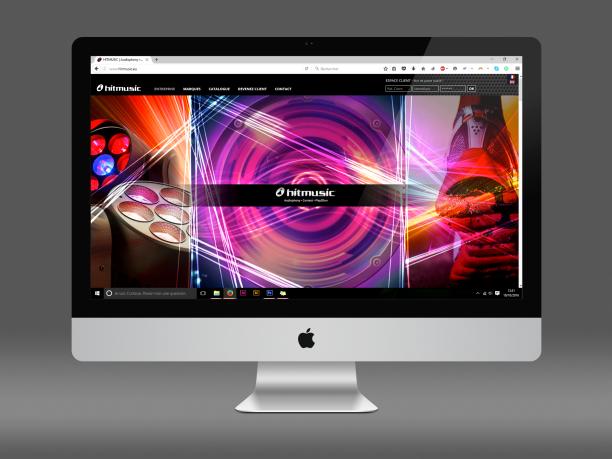 Sliders du site Hitmusic réalisés lors d'un stage à l'agence de communication NOVO (Toulouse)