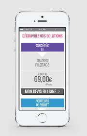 Réalisation de maquettes mobiles pour la refonte du site internet de Ca Compte Pour Moi - Réasliastion dans le cadre d'un CDD dans la Startup Toulousaine