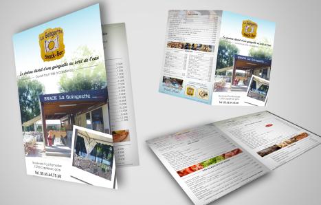"""Refonte de la carte estivale du restaurant """"La Guinguette"""" situé à Capdenac-Gare - 2017"""