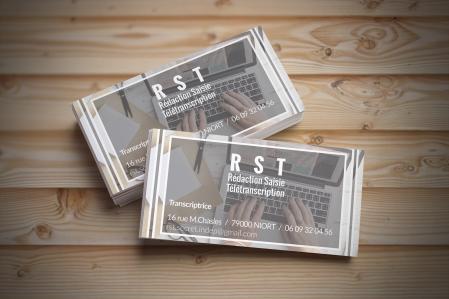 Réalisation d'un carte de visite pour l'entreprise RST basée à Niort - 2017